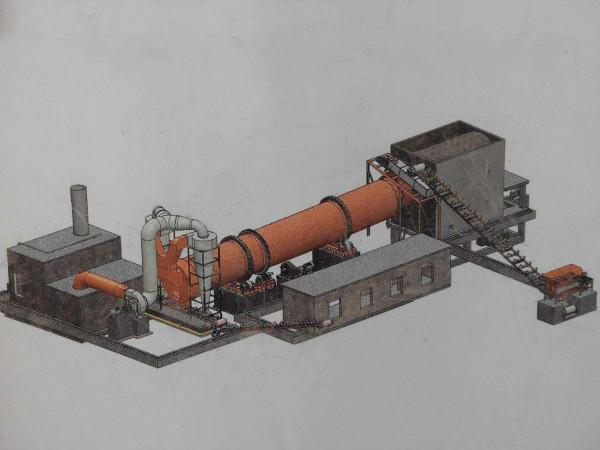 双筒烘干机生产线